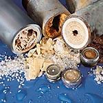 Kalkablagerungen in Wasserleitungen